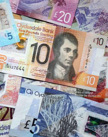Scottish currency and money